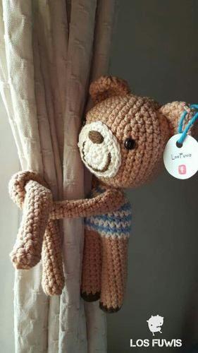 Sujeta Cortinas Amigurumis Crochet (pack 2 U. Iguales O Dif)