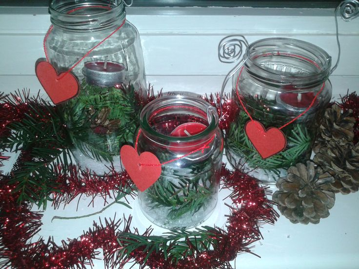 Christmas candle jar