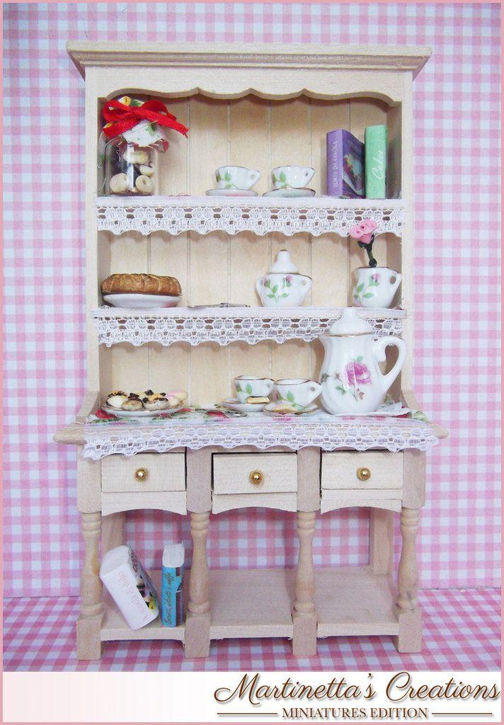 Credenza in legno in miniatura in SCALA 1:12 Fatto a mano, by Martinetta's Creations -Miniatures Edition-, 41,00 € su misshobby.com