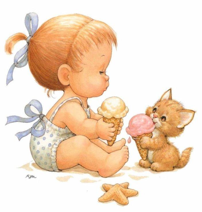 Красивые картинки с детками нарисованные