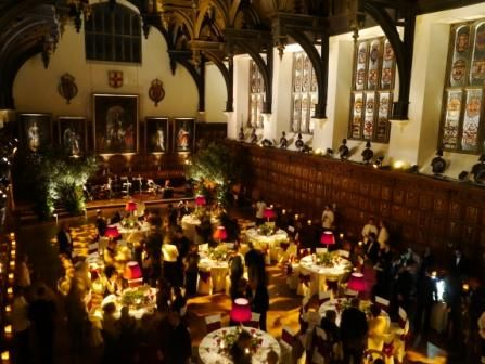 The wedding reception is about to start in Middle Temple Hall!