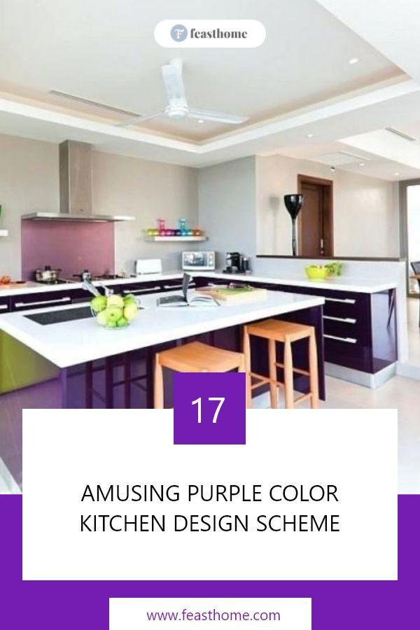 17 Amusing Purple Color Kitchen Design Scheme In 2020 Kitchen Colors Purple Kitchen Kitchen Design