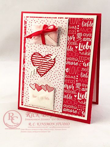 Handmade Valentine's Card by Rick Adkins, using the Sending Love Suite from the 2017 Occasions Catalog