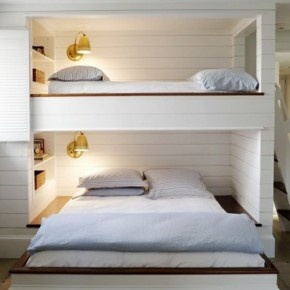 30 Sophisticated and Cozy Shared Kids Room Design Ideas : Sophisticated and Cozy Shared Kids Room Design Ideas – Shared Kids Room with White Bunk Bed