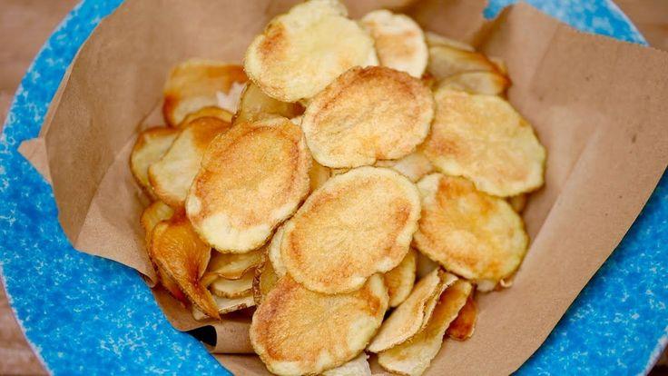 Crispy MICROWAVE POTATO CHIPS (w/Ranch & BBQ Flavors!) Gemma's Bigger Bolder Baking Ep 155 - YouTube