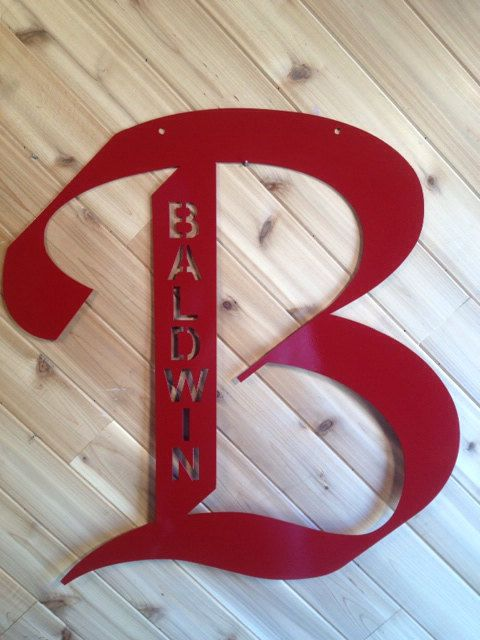 """Letter- Large  24"""" tall - Personalized - Metal Wall Art By PrecisionCut"""
