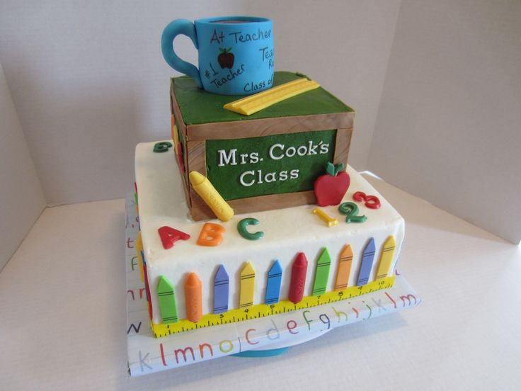Cake Designs For Teachers : 30 best images about School cakes / Graduation on ...