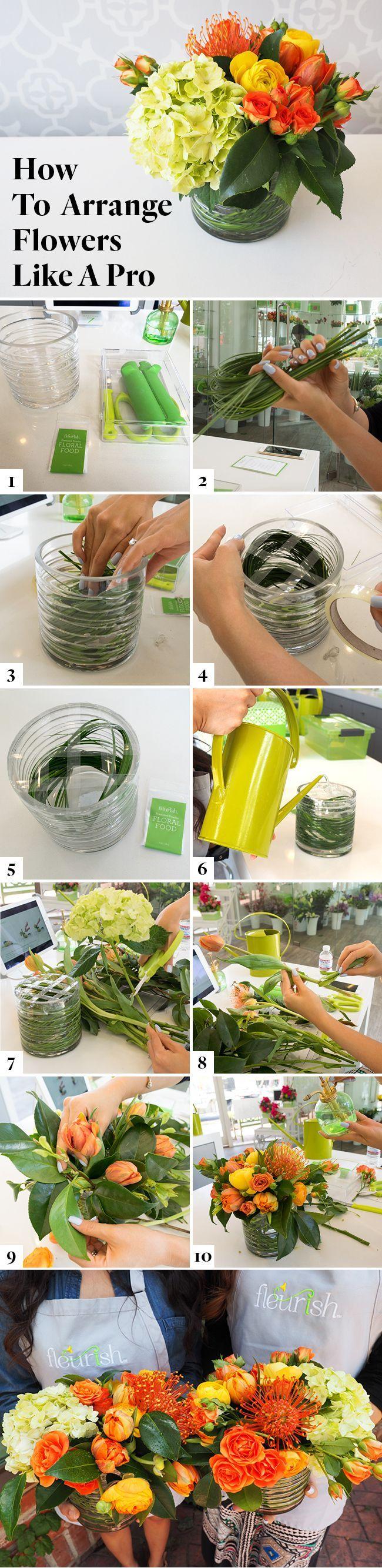 How To Arrange Flowers Like A Pro Buketter V Xter Och