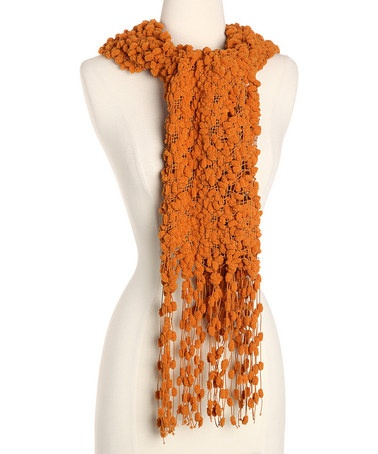 Orange Cocoon Scarf by pur cashmere: Wool blend. Also available in turquoise, black, and celery. On sale $26.99 #Scarf #pur_cashmere
