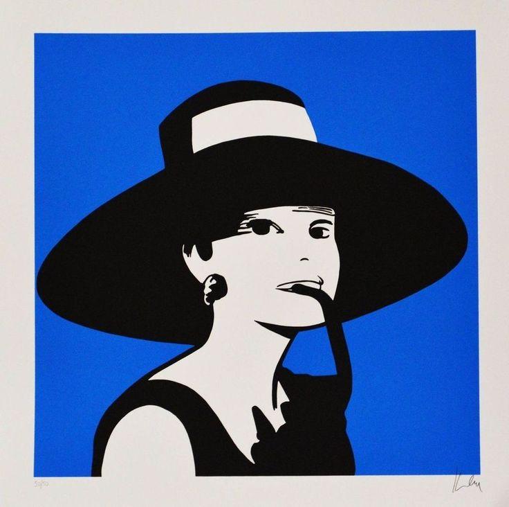 LODOLA MARCO - AUDREY - Serigrafia a colori su carta 70 x 70 cm