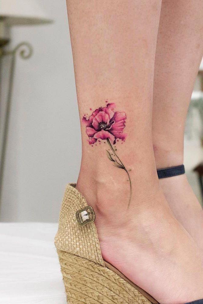 Watercolor Flower Tattoo Design Flowertattoo