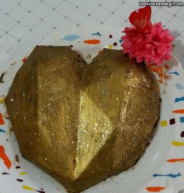 شکلات قلبی سورپرایز دسر روز عشق و جشن تولد مجله تصویر زندگی Desserts Food Pudding