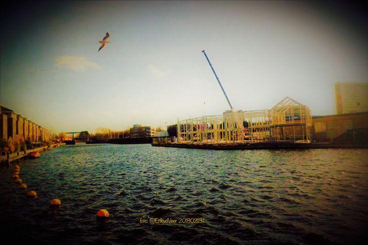 'Harbour Village' Bedrijvengebouwen ontwikkeling op de landtong in de #Plaspoelpolder te #Rijswijk foto: @ErikvdVeer 20180213.1