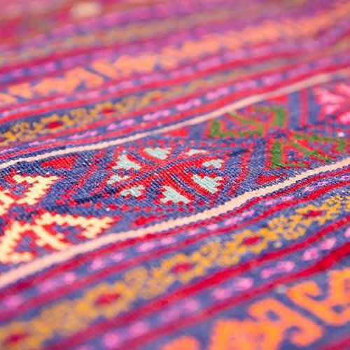 The more you stare, the more you see! 👀 #ruglife #needtogetoutmore #midweekvibes #obsessed #afghanrug #afghankilim #kilimrug #colourpop #handwoven