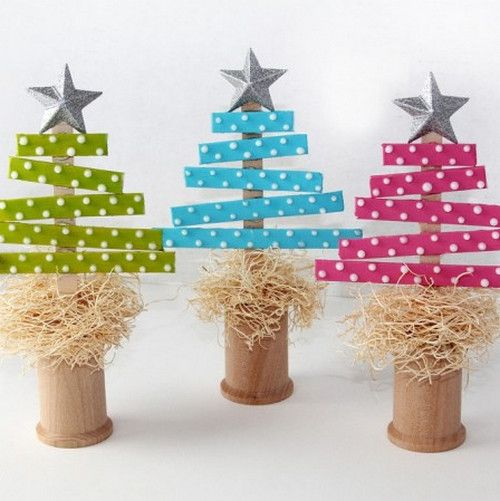 Arbolitos de Navidad de papel