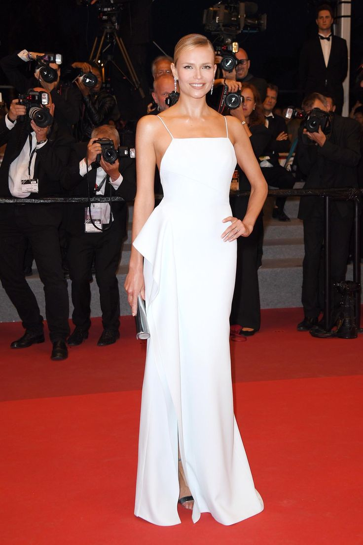 Natasha Poly stepped out in a custom-made piece by BOSS for the 'In The Fade' screening in Cannes