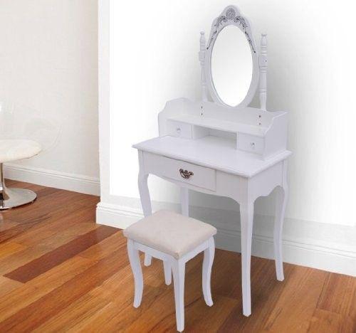 SEA141 Set masă de toaletă - transport gratuit în România - http://www.emobili.ro/cumpara/sea141-set-masa-alba-toaleta-cosmetica-machiaj-oglinda-masuta-vanity-752 #eMobili