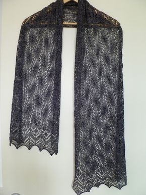 Estonian Waterall shawl by Cath Ward