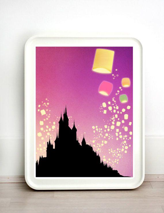 Disney Pixar Tangled Lanterns Castle MANY SIZES by TeacupPiranha