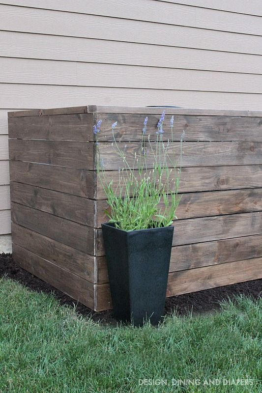 DIY Decorative Wood AC Unit Cover