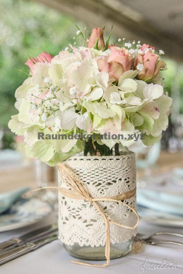 Tischdeko Hochzeit – Shabby Chic selber machen: Der Romantik-Look für Zuhause