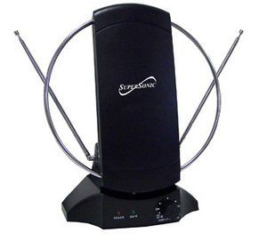 Supersonic SC-605 High-Definition Digital Indoor Antenna by Supersonic. $13.74. * Indoor Digital HDTV Antenna * Rotatable Dipole and Two Adjustable Antennas for the Best UHF and VHF Bands * 9v DC Power Supply For Campers or Boats * Frequency Range 470-860 MHz Channels * Antenna Gain 10-30dB * Impedance 75 ohm. Save 54% Off!