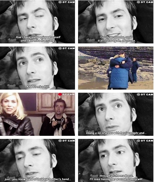 . on Doctor who, 10th doctor, David tennant