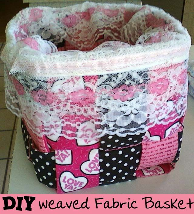 How To Weave A Basket From Fabric : Woven fabric basket tutorial sewing baskets bowls