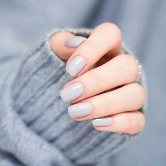 nail art design inspiration ideas DIY   grey   oval   gel polish   acrylic   swe…