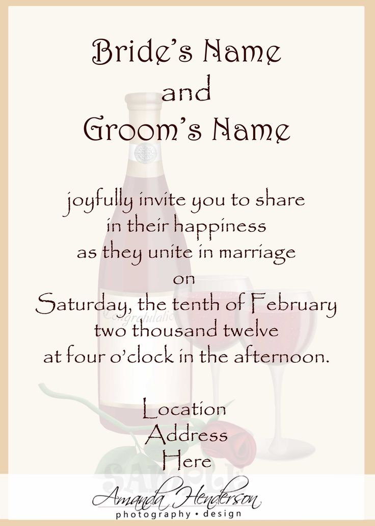 25 best ideas about Wedding Invitation Wording – Sample Wedding Invitation Format