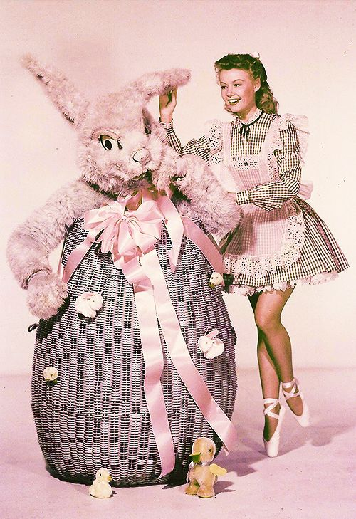Okay, it isn't a Christmas Card from Vera Ellen and the Easter Bunny, but it is still from a movie star.  C.1950's