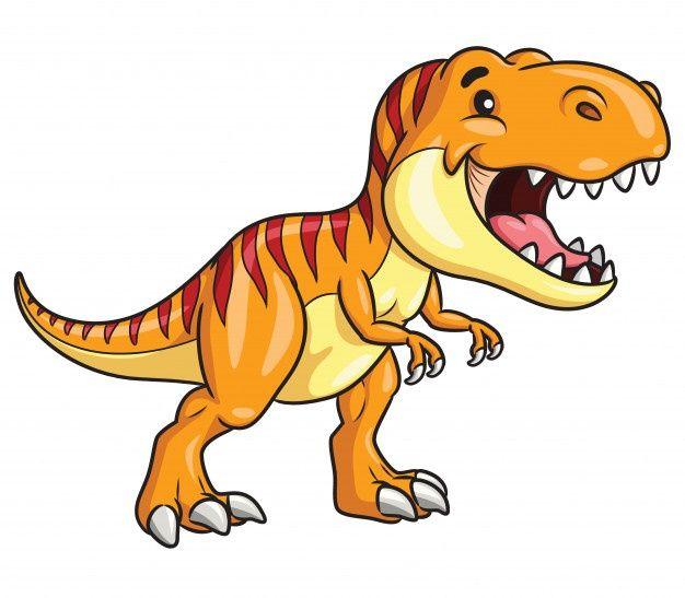 Happy Dinosaur Cartoon Vector Premium Download T Rex Cartoon Cartoons Vector Dinosaur Images