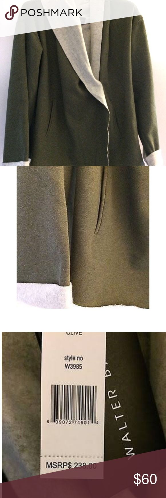 Walter Baker Women's Olive Hoodie Coat This is a NEW with TAGS WALTER BAKER Women's Olive Hoodie Coat. Size XL. Front button closure. 2 front pockets. Imported. Color Olive. Made of 80% cotton, 20% Polyester. Style# W3985. Hand wash cold. Walter Baker Jackets & Coats
