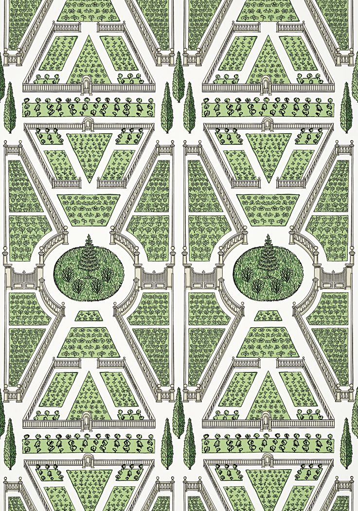AERIAL GARDEN, Green, AT9599, Collection Savoy from Anna