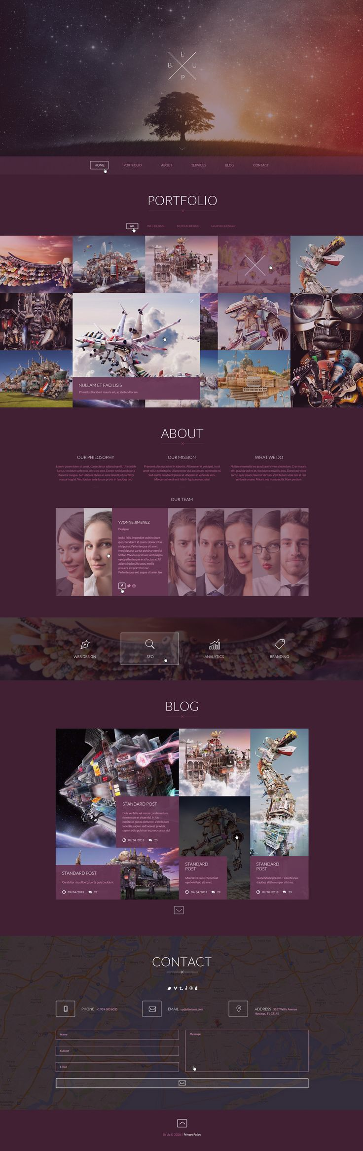 BeUp - One Page Multi Purpose PSD Theme
