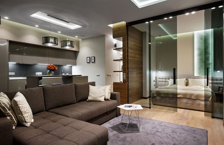 A small yet gorgeous apartment that intelligently used glass materials to make it appear visually large.