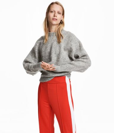 Mohair-blend Sweater | Gray melange | WOMEN | H&M US