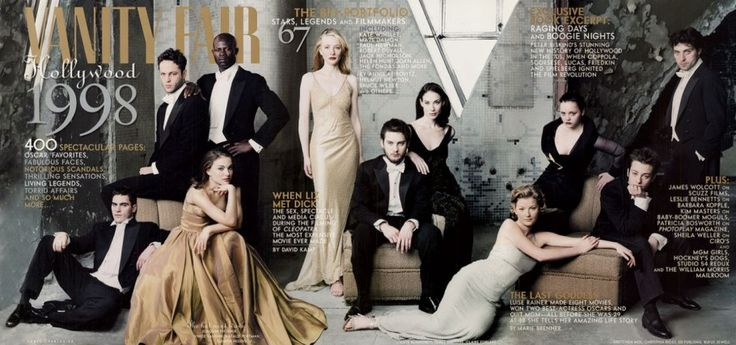 1998    From left: Joaquin Phoenix, Vince Vaughn, Natalie Portman, Djimon Hounsou, Cate Blanchett, Tobey Maguire, Claire Forlani, Gretchen Mol, Christina Ricci, Edward Furlong, and Rufus Sewell. by Annie Leibovitz