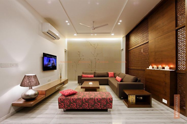 Wooden Screen in Living Room