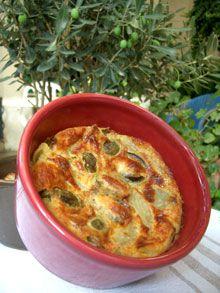 Alter Gusto | Clafoutis aux artichauts & olives cassées des Baux de Provence -