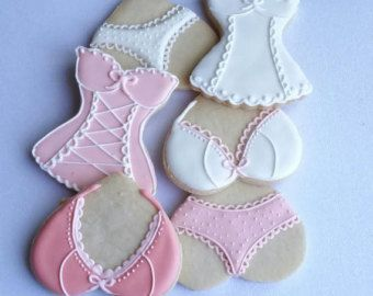 Bridal Lingerie Shower Decorated Cookie Favors by Bakinginheels