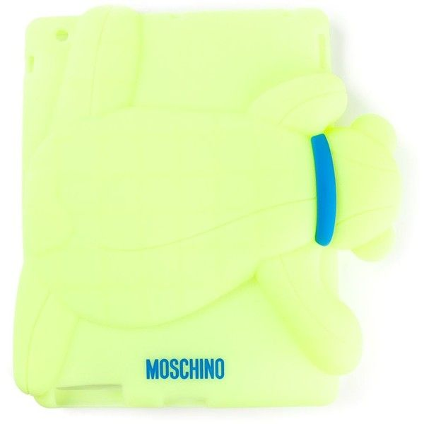 Moschino bear iPad 2 cover ($67) ❤ liked on Polyvore featuring accessories, tech accessories, green and moschino
