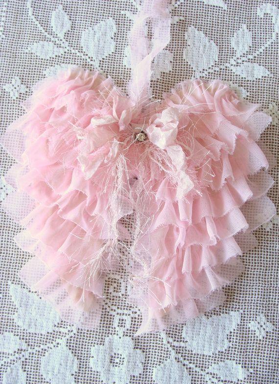 Pink Fabric Angel Wings!!!! Love!!!!