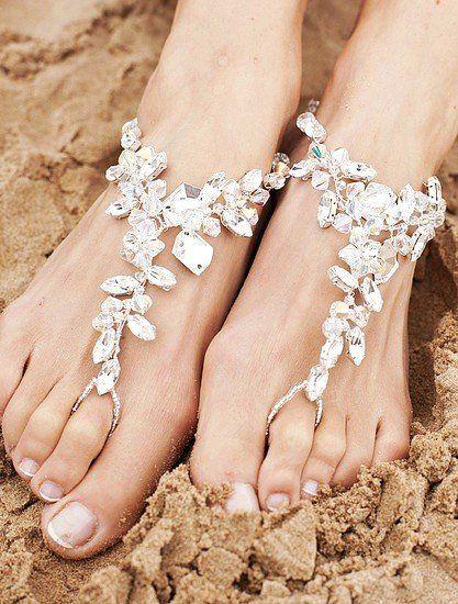 cute beach wedding shoes barefoot sandals