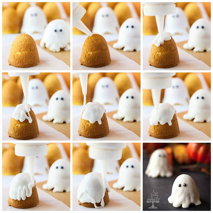 Ghost Petit Fours for A Halloween Party More