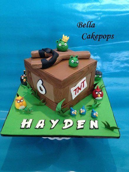 Angry Birds cake for Hayden - by lissamom78 @ CakesDecor.com - cake decorating website