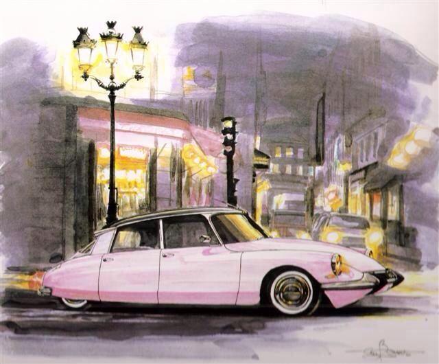 The #goddess, majestic. #Citroen #DS #car #drawing #design #CitroenFanArt