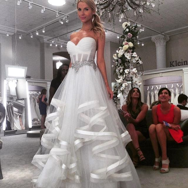 #SayYesToTheDress @kleinfeldbridal  #Repost @overthehudson ・・・ Pnina Tornai sweetheart ball gown in organza. I really liked this gown minus the see-through corset.  Apparently, you can customize this so its not transparent.  It was very light and youthful.
