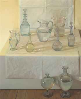 Claudio Bravo (Chilean 1936-2011)   Water   signed and dated 'CLAUDIO BRAVO MMI' (upper left)   oil on canvas   47¼ x 39 3/8 in. (120 x 100 cm.)   Painted in 2001.