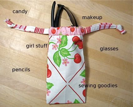 cinch bag tutorial- great for organizing or gift bags